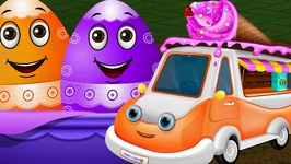 Surprise Eggs Toys - UTILITY Vehicles for Kids  Ice Cream Van & more  ChuChuTV Egg Surprise