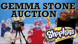 Gemma Stone Shopkins Pretend Auction With Mater