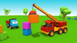Kid's 3D Construction Cartoons For Children 13  Leo Builds A Crane