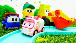 Toys And Kids Games  Leo The Truck And His Friends Build A Road For Cars And Trucks  Games For Kids