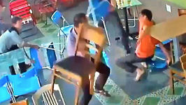 Good Old Fashion Chair Fight Breaks Out In Quiet Cafe