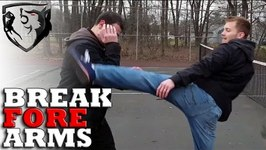 Break Your Opponent's Forearms with Kicks - Limb Destruction