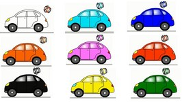 Smart Kids Learn Color Cartoons For Children 5  Coloured Cars
