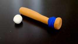 Play-Doh Baseball and Baseball Bat