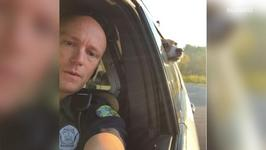 Cop Takes Adorable Selfie With Dog In The Backseat
