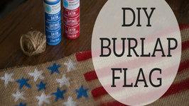 DIY Burlap American Flag