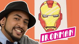 Mad Stuff With Rob - How To Draw Iron Man- DIY Drawing For Children