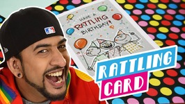 Mad Stuff With Rob - How To Make A Rattling Card- DIY Craft For Children