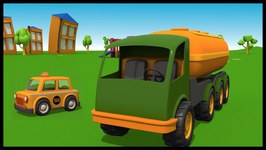 Kid's 3D Construction Cartoons For Children Leo's Fuel Tanker  For TuTiTu fans