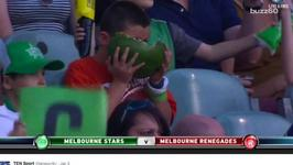 This Kid Trying To Eat An Entire Watermelon Is Winning The Internet
