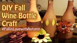 Fall Wine Bottle Craft - FallinLoveWithAutumn - GiftBasketAppeal