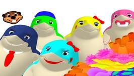 Finger Family Sharks Pop - Toddler Learning Family Names