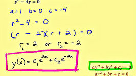 Ex: Linear Second Order Homogeneous Differential Equations - (two distict real roots)