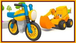 Children's Cartoons - Make A MOTOR BIKE With Excavator Max