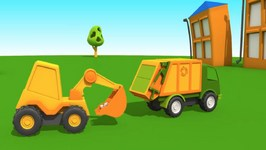 Tutitu Style - Leo's Garbage Truck - Kid's 3D Educational Cartoons - Construction For Children