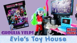 Monster High Doll Ghoulia Yelps Creeperific Lab Mega Bloks Playset CNJ02 Review