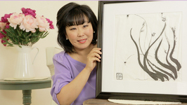 Moon's Zen Moment - My Sister Sun's Calligraphy Painting