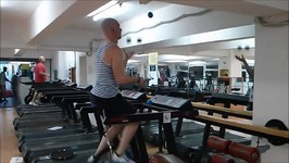 Unicycle on treadmill, part 2