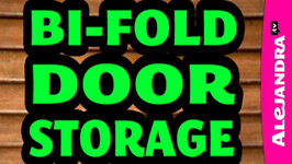 Organizing with a Bi-fold Closet Door & Adding Storage