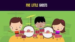 5 Little Ghosts Songs for Kids - Halloween Songs for Children