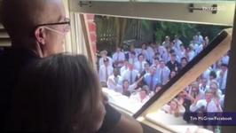 Entire High School Drops Everything For Beloved Teacher in Special Moment