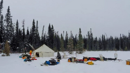 Time Lapse - Winter Camping Set Up and Tear Down