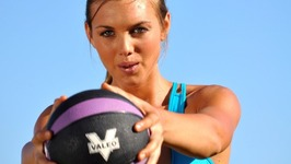 25 Minute Medicine Ball and Step Total Body Workout