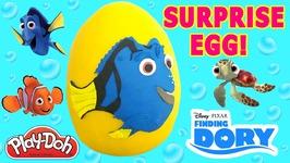 Finding Dory Finding Nemo Play Doh Egg Surprise Toys Videos For Children