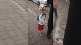 Cute: Dog Walks like a School Girl