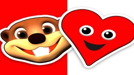 Red Heart - Teach Toddlers Colors and Shapes - Kid's Song - Baby Learning - Preschool Education