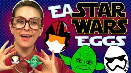Star Wars Easter Egg Craft - Storm Trooper, Yoda and Poe - Arts and Crafts with Crafty Carol