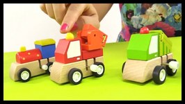 Kid's Toy Cars Collection And Railway Train, Fire Truck And Cement Mixer Moley Demo  Children Videos