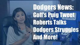 Dodgers News: Rams QB Jared Goff's Puig Tweet, Roberts Talks Dodgers Troubles and More