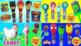 Compilation Chupa Chups Lolli Pop Ups Candy Avengers, Frozen Spiderman Video