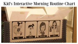 Kid's Back to School Interactive Morning Routine Chart