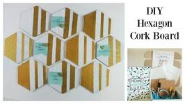 DIY Hexagon Cork Board Perfect for Vision Board or Your Fridge