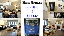 Home Update Before and After - Gel Staining Wood