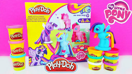 My Little Pony Play Doh Make N Style Ponies Toy Videos For Children