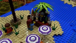 LEGO Beach Island Hopping MOC With Elves By NCLUG