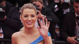 Blake Lively dresses her baby bump in baby blue
