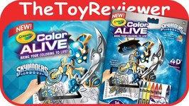 Skylanders Crayola Color Alive Action Coloring Pages Unboxing Toy Review
