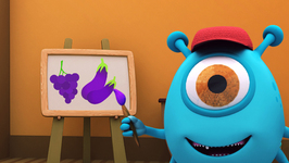 The Color Purple - Monster Family Colors and Shapes