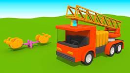 Kids 3D Childrens Machine Cartoons 12  Leo Paints A Fire Truck