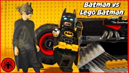Batman Stuck In Lego Batman Movie World  Puzzle Solve W Superman Cleaning Lady And Paul SuperHero Kids