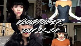 Vlogtober - Day 22-24 - Lots of walking, Corset training And Rat kisses
