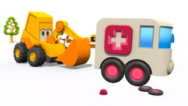 Toy Trucks  Find The Ambulance  Excavator Max Surprise Eggs Hot  And Cold Playground Games