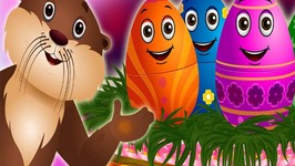 Surprise Eggs Nursery Rhymes  Sea Otter Rhyme  Learn Colours, Sea Animals and Objects  ChuChu TV