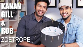 Mad Stuff With Rob - How To Make A Zoetrope feat. Kanan Gill- DIY Craft