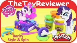 Play-Doh My Little Pony Rarity Style And Spin Set Unboxing Toy Review