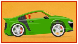 Color With Doc McWheelie's Magic Brush   Paint A Sports Car (Children's Car Cartoons)
